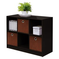 Furinno Basic 6 Cube Storage Organizer Bookcase Storage with Bins, Multiple Colors