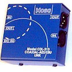 Aes Converter (Hosa CDL-313 Coaxial-SPDIF to AES-EBU Link - Converter Coaxial Data Link AES/EBU (XLR) to S/PDIF (RCA) )