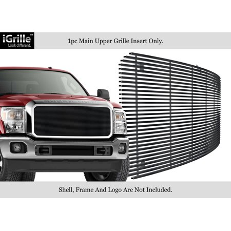 - Fits 2011-2014 Ford F250/F350 Super Duty Stainless Black Billet Grille #N19-J82868F