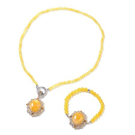 Oval Cubic Zircon Lapis Lazuli Bracelet Pendant with Beaded Necklace