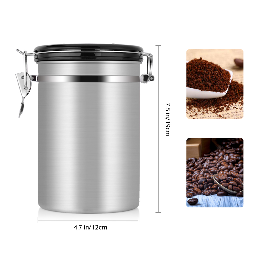 Coffee Stainless Steel Container Canister with co2 Valve