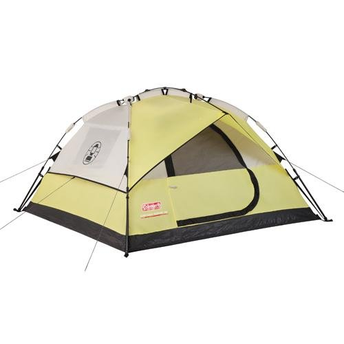 Coleman Instant 7x7 Foot Dome 3 Tent Yellow/Tan 2000015776