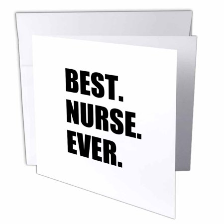 Greatest Halloween Card Ever (3dRose Best Nurse Ever - worlds greatest nursing staff worker fun nurses day, Greeting Cards, 6 x 6 inches, set of)