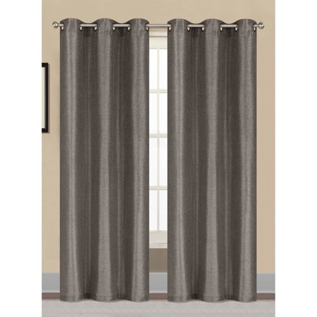 Willow Textured Woven Grommet Curtain Panel