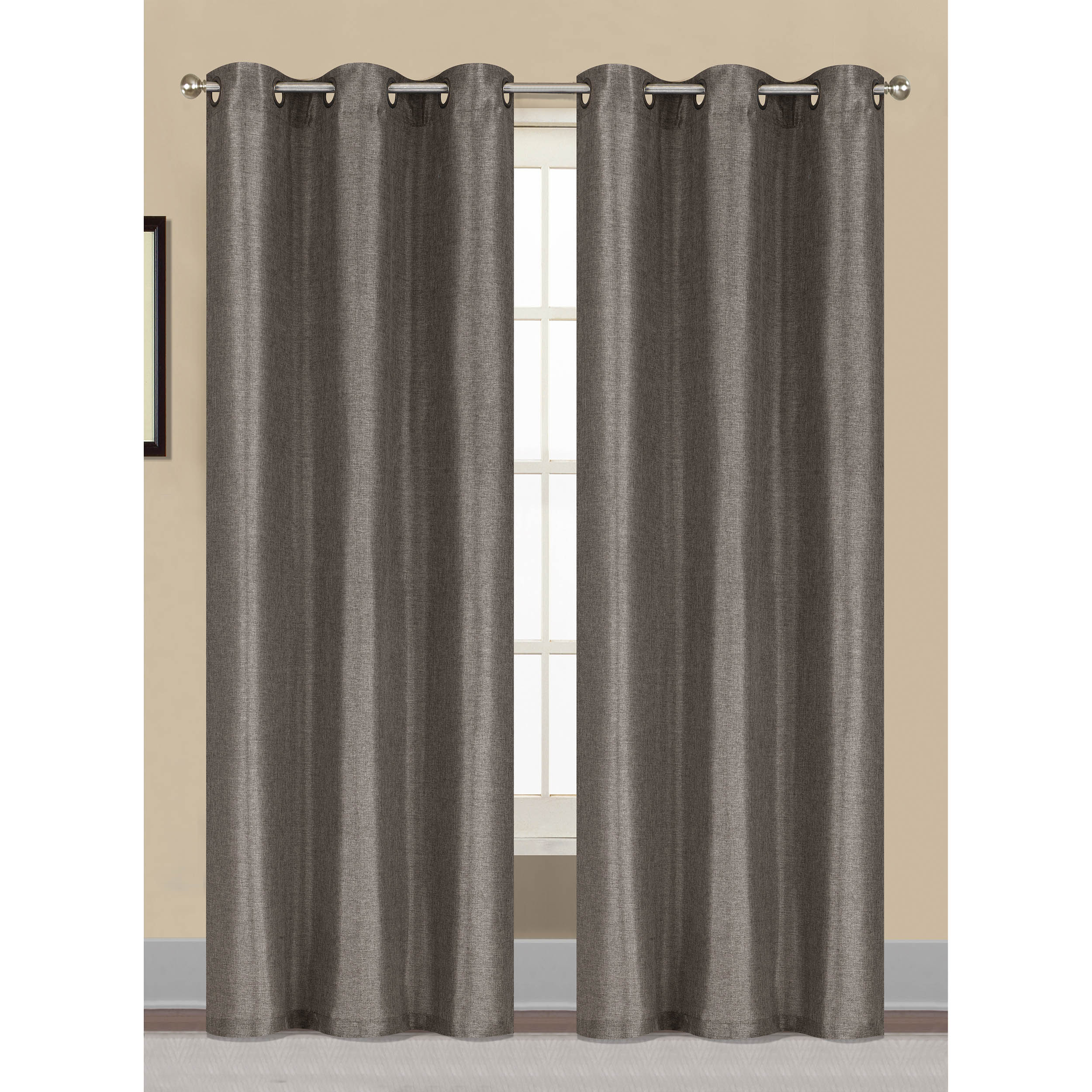 Willow Textured Woven Grommet Curtain Panel Pairs