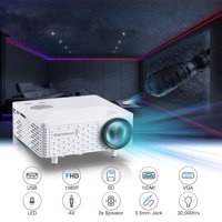 Mini Projector, Excelvan BL-18 Portable LCD Projector 1080P Smartphone Laptop DVD TV BOX With HDMI VGA AV SD USB Port With Remote Controller,White