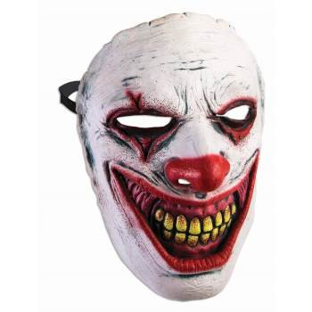 Vintage Clown Mask (FRONTAL MASK - EVIL CLOWN)