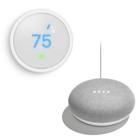 Nest Thermostat E + FREE Google Home Mini Nest Thermostat E / Google Home Mini Bundle