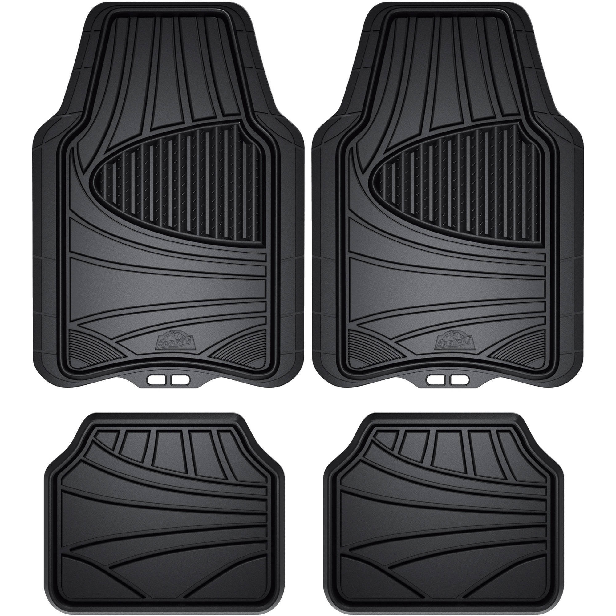 amazon floor car flexible com dp mat the piece rubber mats amazonbasics black automotive