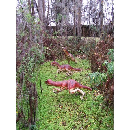 Canvas Print Dinosaur World Dinosaur Florida Theme Park Stretched Canvas 10 x 14 (Theme Park World Halloween World)