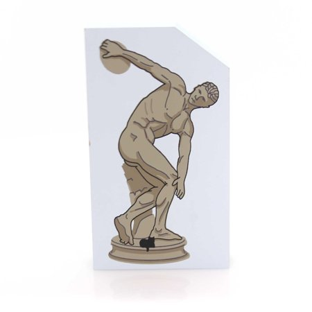 Cats Meow Village DISKOBOLOS SCULPTURE Wood Accessory Discus Thrower 148 covid 19 (Cat Fishing Sculpture coronavirus)