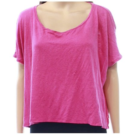 Dolman Crop - Eileen Fisher Pink Slit-Side Crop Dolman-Sleeve Women's Knit Top $60