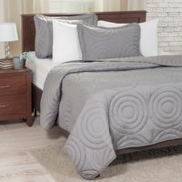 Somerset Home 3pc Solid Embossed Quilt Bedding Set
