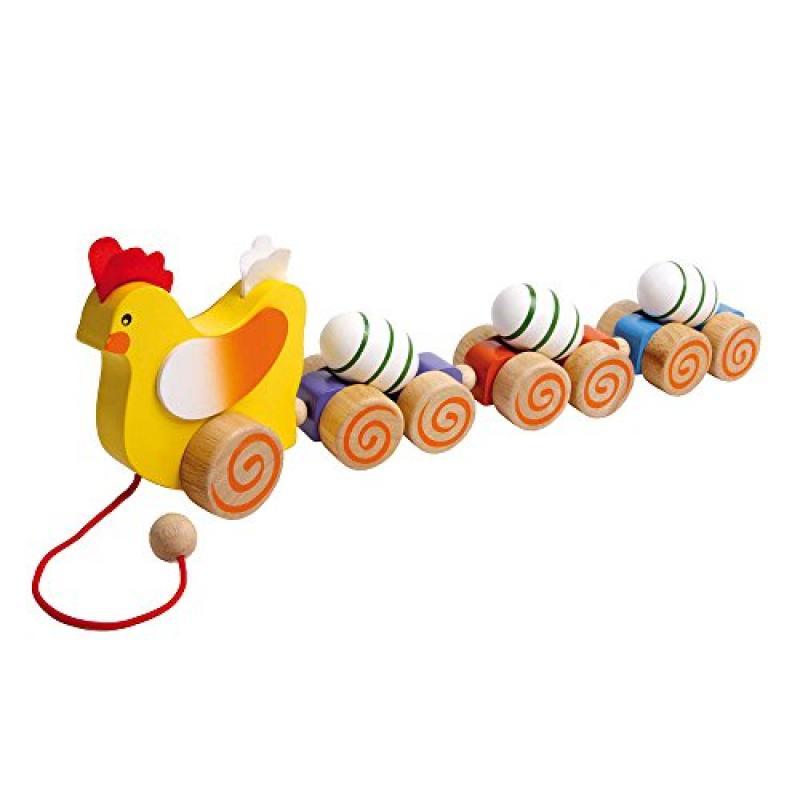 "Legler ""Hen"" Pull-Along Preschool Push and Pull Toy by"