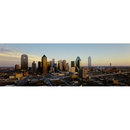 High angle view of buildings in a city Dallas Texas USA Poster Print