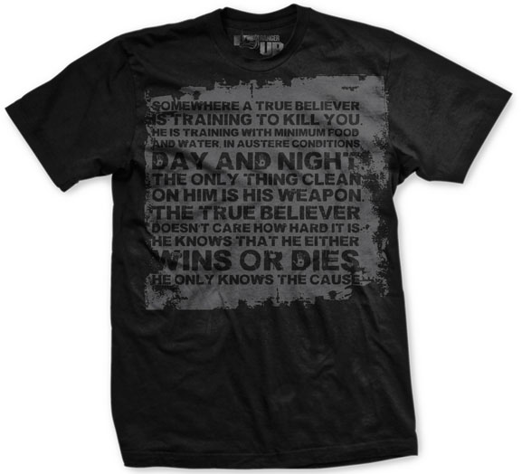 Ranger Up Vintage True Believer T-Shirt - Black