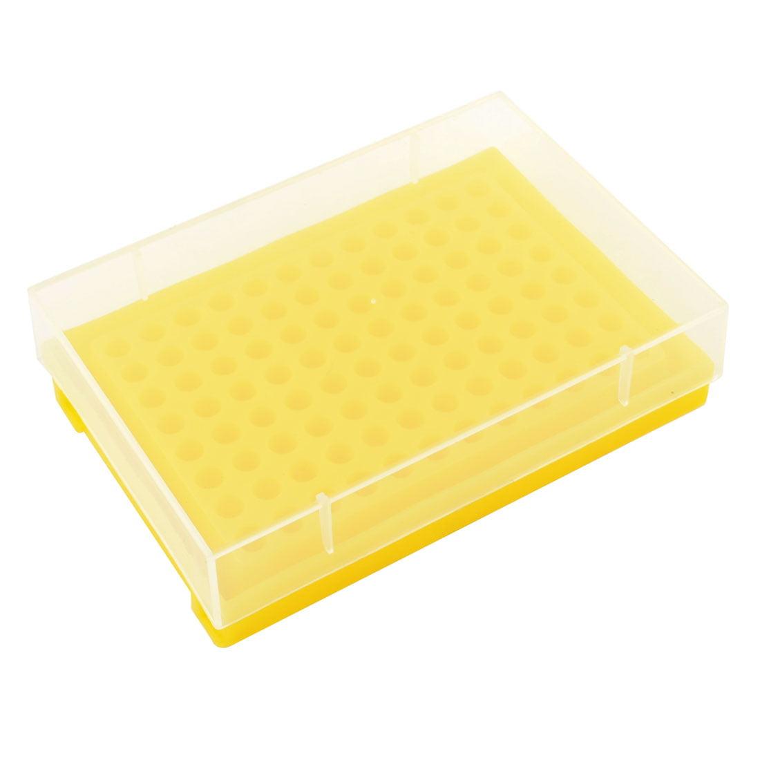 Yellow Plastic 96 Tubes Rack Holder w Cover for 0.2ML Centrifuge Tube - image 1 of 1