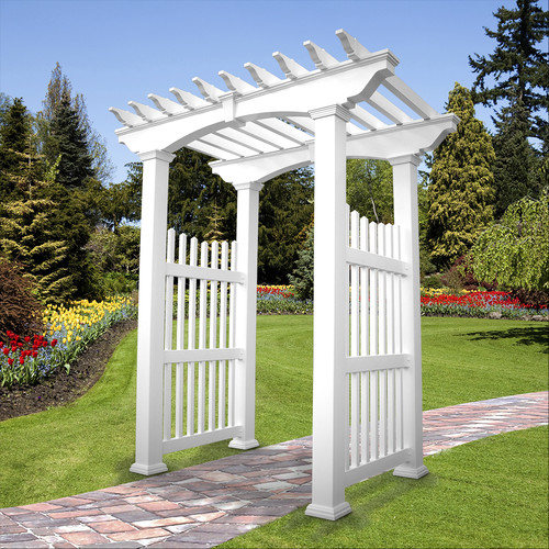 Weatherables Victorian Vinyl Arbor by Weatherables