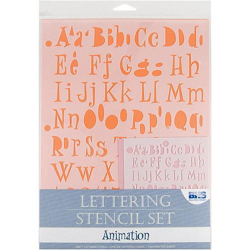 Lettering Stencil 4-Piece Set