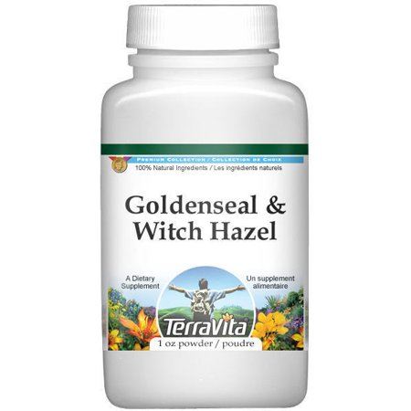Goldenseal and Witch Hazel Combination Powder (1 oz, ZIN: 512110) Witch Hazel Bark Powder