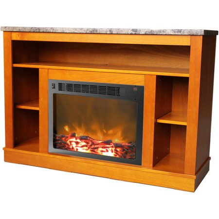 Cambridge Seville Fireplace Mantel With Electronic Fireplace Insert For Tvs Up To 50