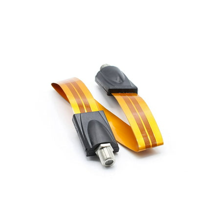 Ultra Flat, Ghost Wire, High Frequency Coaxial Flat Cable for Windows and Door - Coax compatible with Directv, Dish Network, AT&T, Comcast, and many more