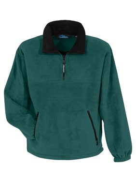 Men's Big And Tall Contrast Collar Fleece Pullover