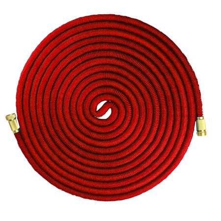 100' Commercial Grade Lightweight Expandable Hose with Spray (Commercial Grade Rubber Hose)