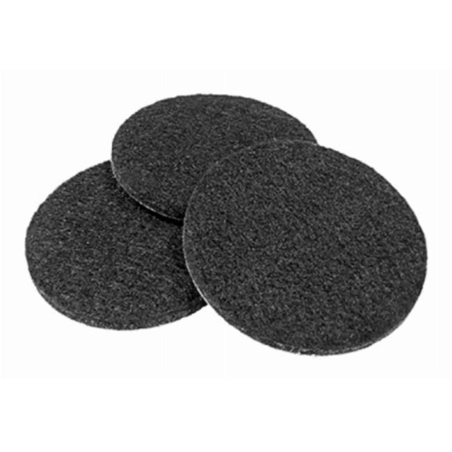 Richelieu America 236856 2.25 in. TruGuard Heavy-Duty Self Adhesive Round Felt Pads, Black - Pack of 4 - image 1 of 1