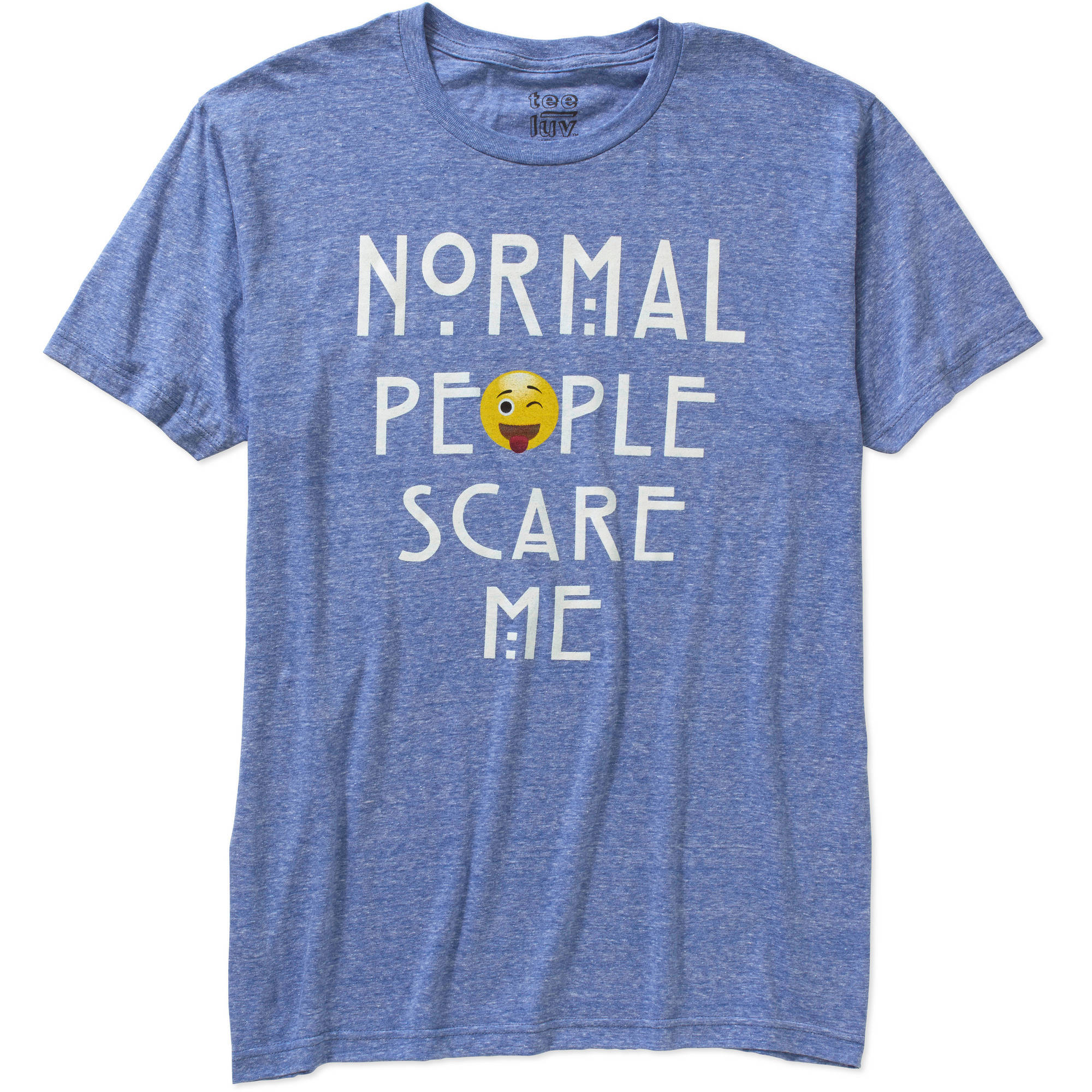 Normal People Scare Me Big Men's Graphic Tee, 2XL