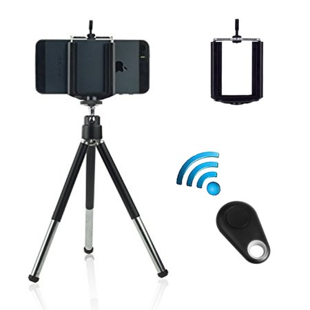 EEEKit 3 in 1 Kit for Phone, Tripod Mount + Phone Holder + Remote Shutter for iPhone 11/11 Pro XS XR X 8 7 6 6S Plus Samsung Galaxy S10E S10 S10 Plus S9 S8 S7 S6 Edge(Plus) Note 9 8