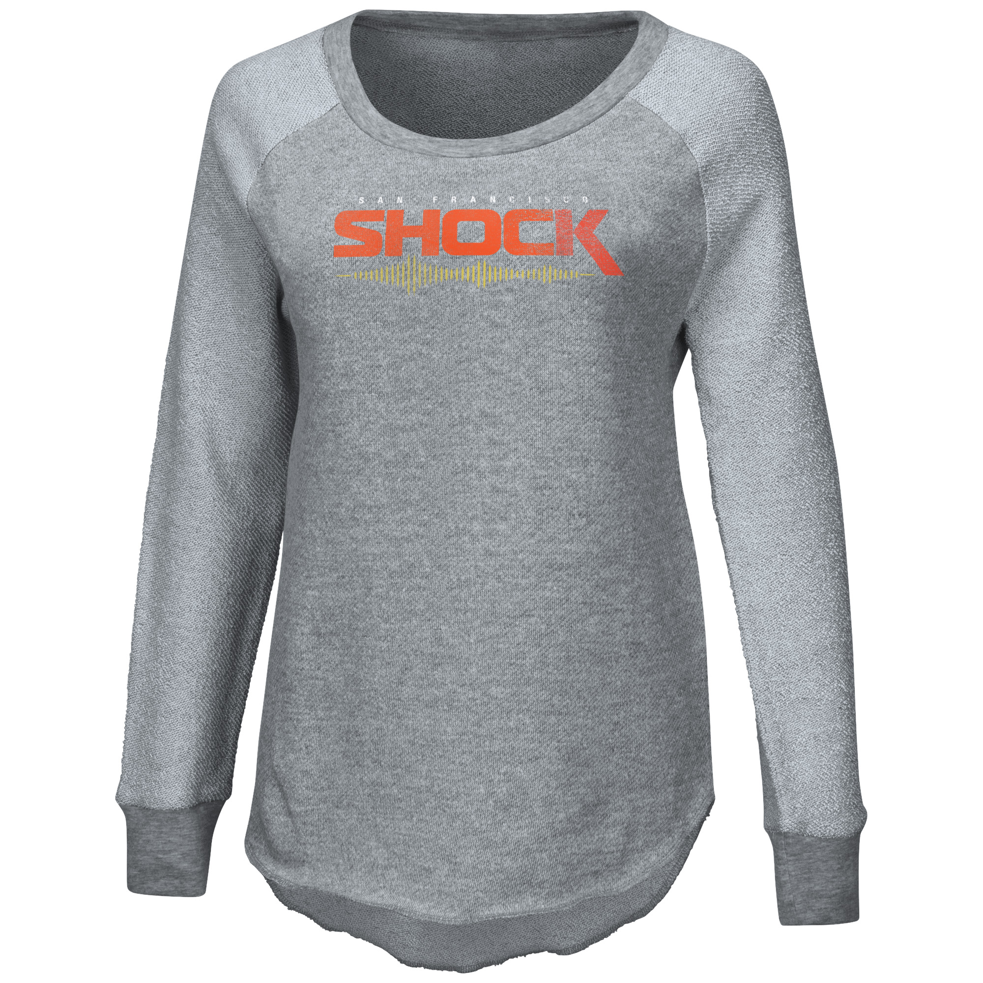 San Francisco Shock G-III 4Her by Carl Banks Women's Raglan Pullover Sweatshirt - Heather Gray