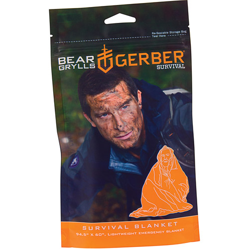 Gerber Bear Grylls Survival Blanket with Reusable Bag