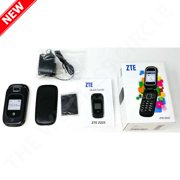 New Z223 3G GSM Unlocked 2.0 Bluetooth, 900 mAh Battery Flip Phone with Camera - Black by ZTE