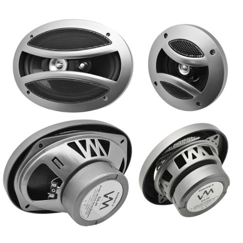 "2) VM Audio EXS406.2 4""/4x6"" 220W Car Speakers + 2) EXS690.4 6x9"" 600W Speakers"