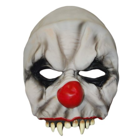 Spooky Halloween Store (Spooky Village Evil Clown Chinless Mask for Halloween, One Size)