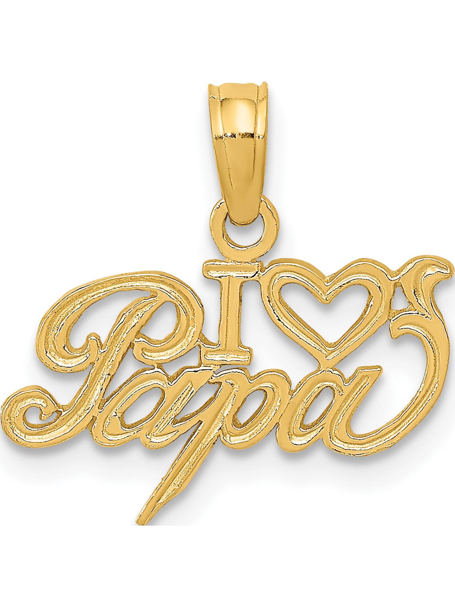 14K White Gold Polished I Heart Kansas State Charm Pendant