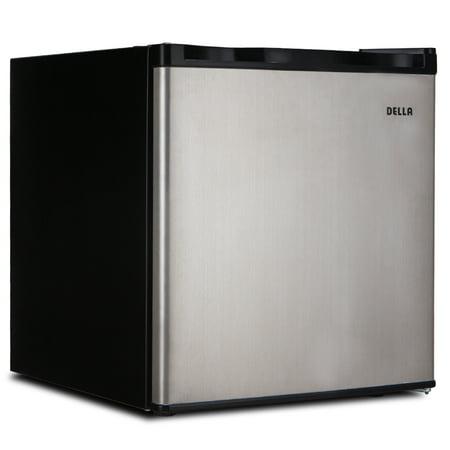 Della Portable Mini Fridge Single Reversible Door Upright Mini Refrigerator Freezer 1.6 Cubic Feet Small SV