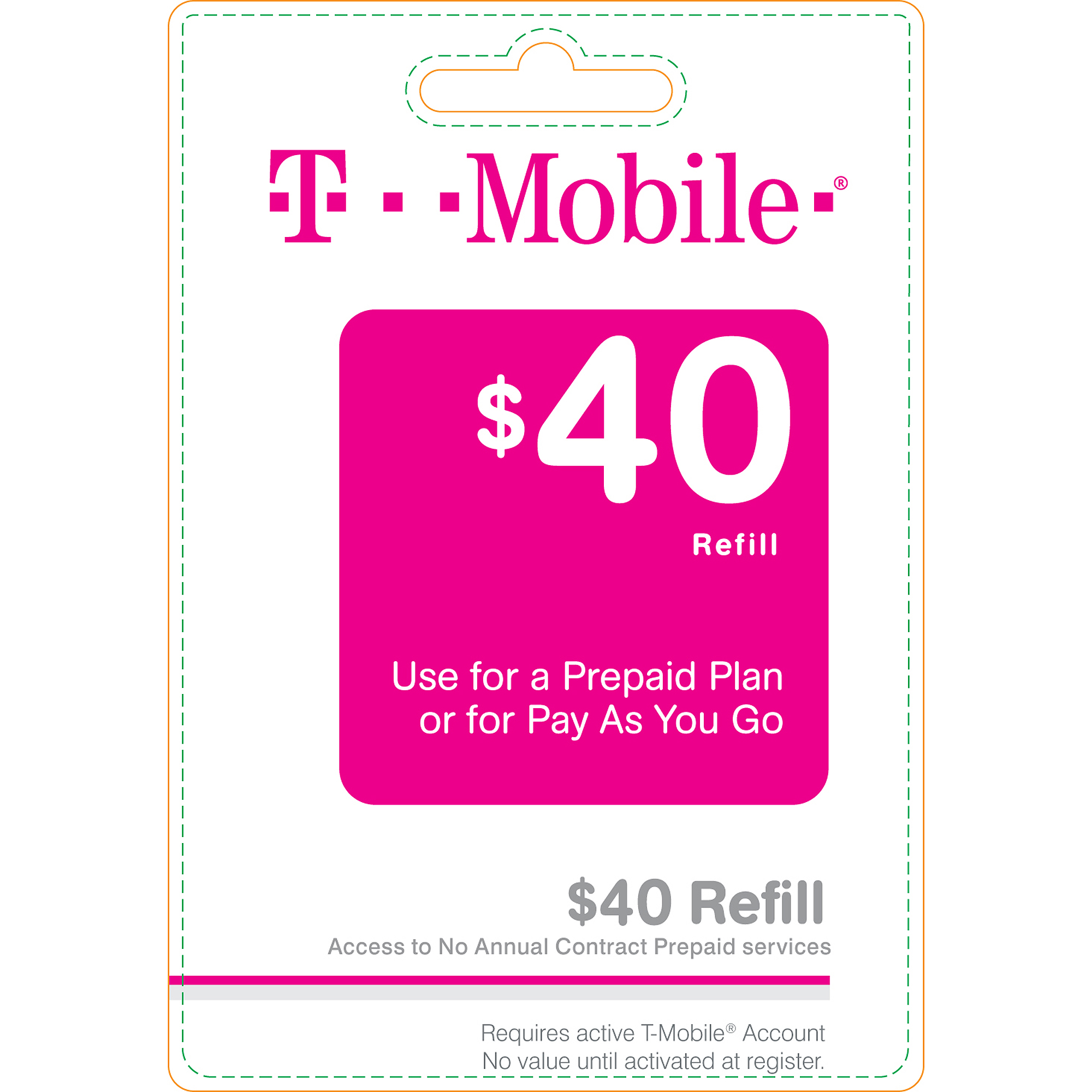 (Email Delivery) T-Mobile $40 Wireless Airtime Card