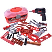 36 Pieces Kids Tool Set, Tool Box for Boys and Toddlers F-19