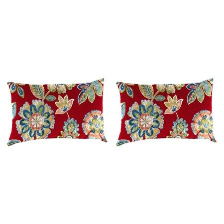 Jordan Manufacturing Outdoor Toss Pillow Set, Daelyn Cherry