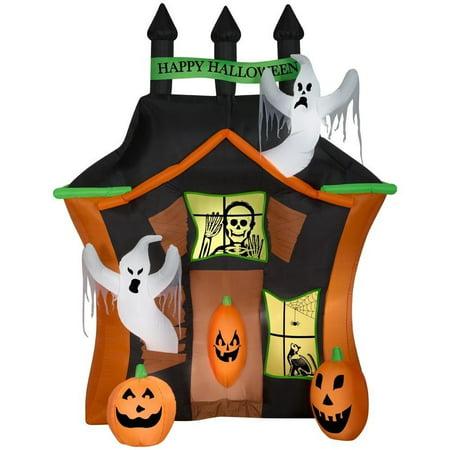 Halloween 6 Scenes (9' Airblown Haunted Ghost House Scene Halloween)