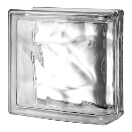Seves 5002861 8 x 8 x 4 in. Nubio End Glass Block - Pack of 8