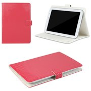 "JAVOedge Red Geometric Pattern Universal Book Case for 7-8"" Tablets, iPad Mini, Samsung Tab, Nexus 7, Nook HD and More"