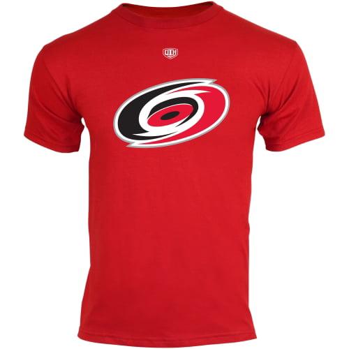 Old Time Hockey Carolina Hurricanes Youth Big Logo Crest T-Shirt - Red