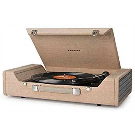 Refurbished Crosley Cr6232a Br Nomad Portable Usb Turntable With Software For Ripping   Editing Audio  Brown