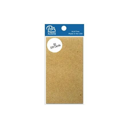 Gift Card 2x3.5 50pc Brown Bag](Halloween Usa Coupons Printable)