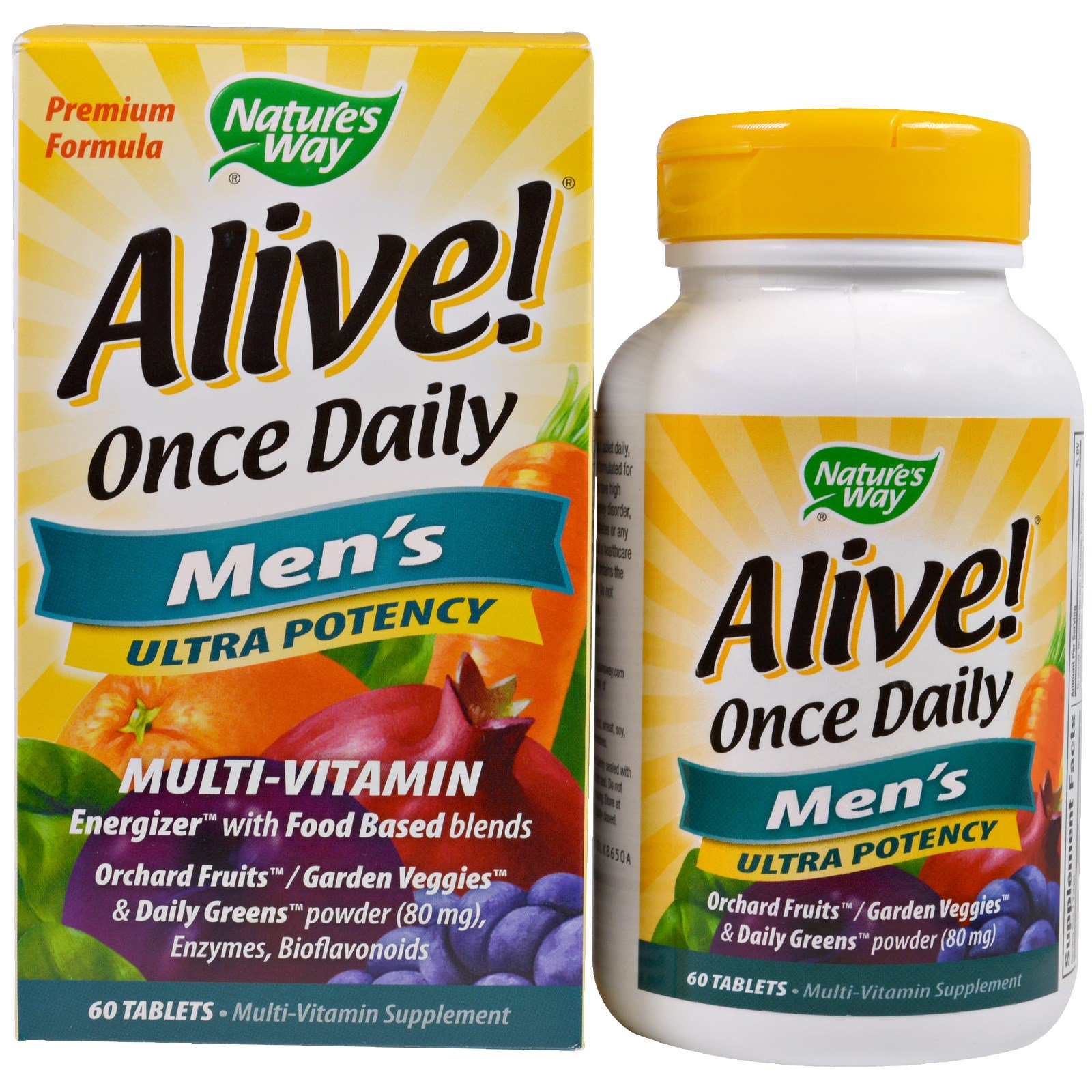 Nature's Way, Alive! Once Daily, Men's Multi-Vitamin, 60 Tablets(pack of 1)