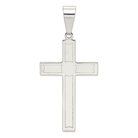 925 Sterling Silver Polished Cross Shaped Pendant - image 1 de 1