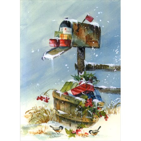LPG Greetings Mailbox Full of Presents Holiday Card ()